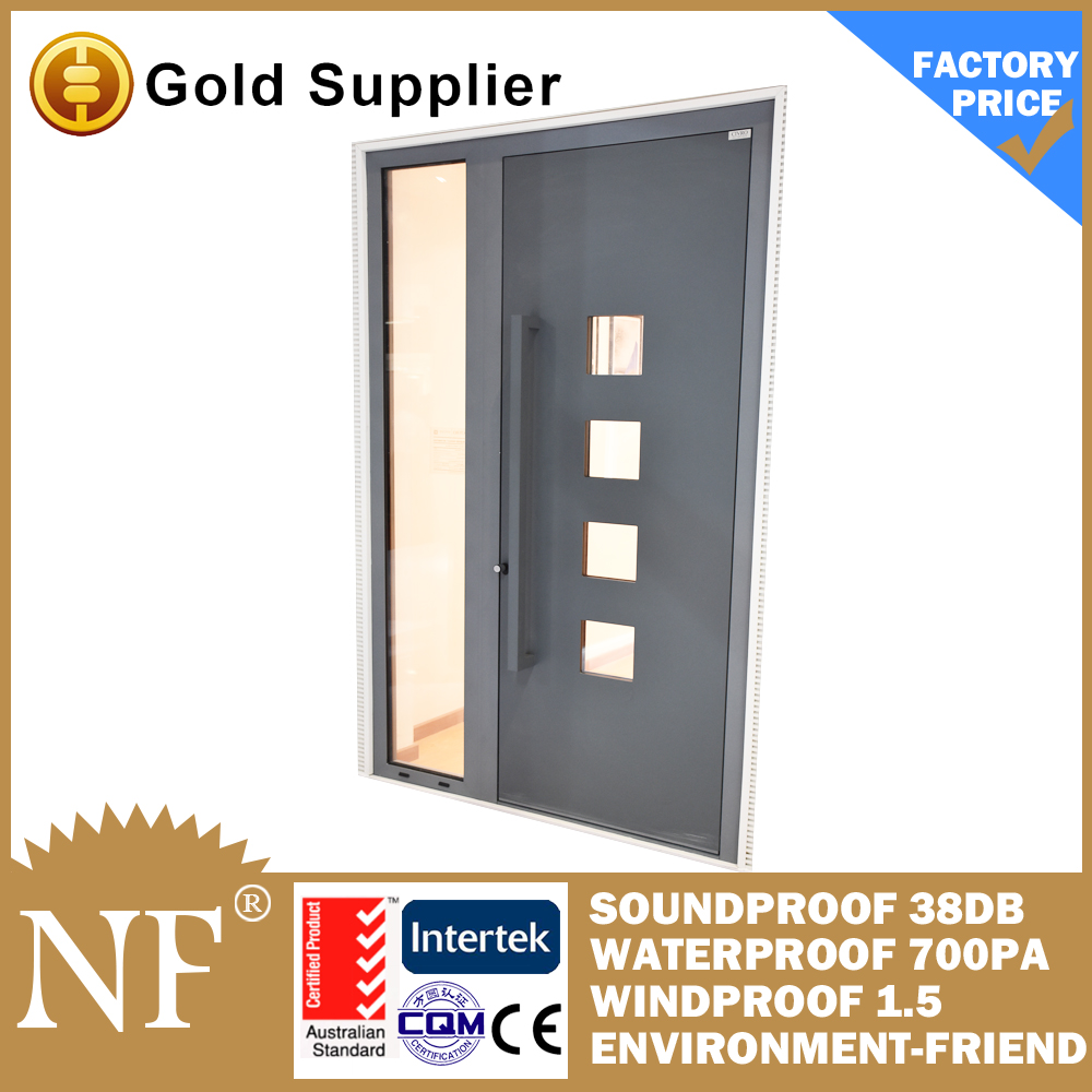 latest design bulletproof glass  aluminium entry door