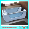 Glass window cheap priced massage bath tub with pillow