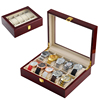 Hot!! Stock 10 Slots high glossy wooden watch box with pillows