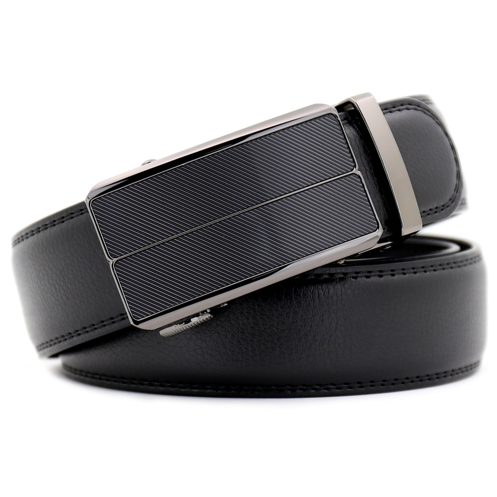 Fashion mens Luxury Leather Waist Dress Automatic Buckle Belt
