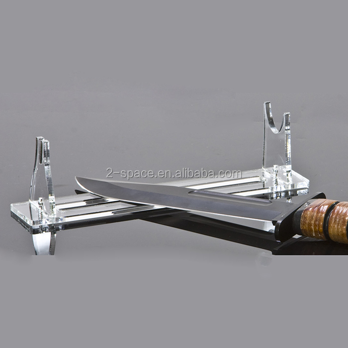 Pocket Knife/Dagger Holder Rack Custom 20cm Clear Acrylic Knife Stand