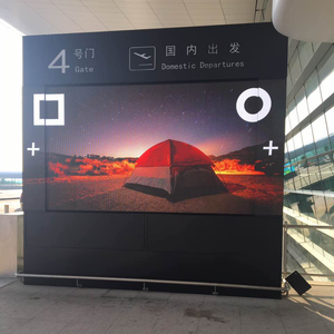 horizontal sliding outdoor P6 LED display with custom design from LINSO