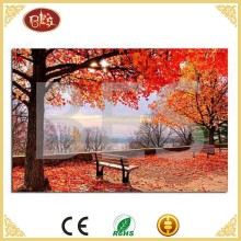 simple classic beautiful forest landscape led light art oil canvas painting