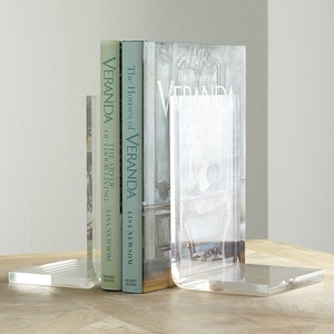 Wholesale cheap clear plastic acrylic bookends
