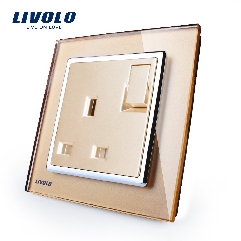 Livolo Manufacturer 1 Gang 1way Push Button Wall Switch With 13a ...