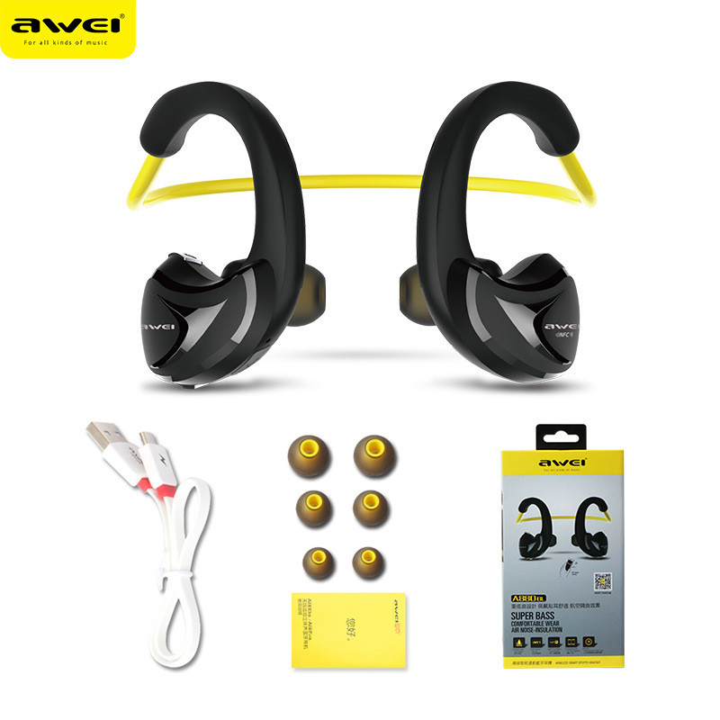 2017 Trending products Awei A880BL best wireless sport bluetooth headset