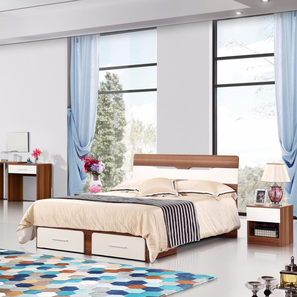 Modern Wood Double Bed Designs With Box