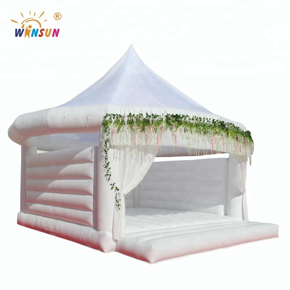 2018 hot sale inflatable wedding bouncy castle,inflatable white bouncer house,wedding bouncy castle for marry