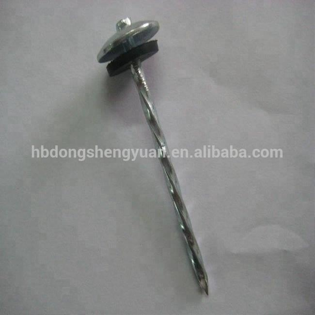 "2.5""*BWG9 electro galvanized umbrella roofing nail"