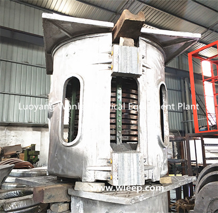 1T Aluminium Shell IF Induction Aluminium Melting Furnace
