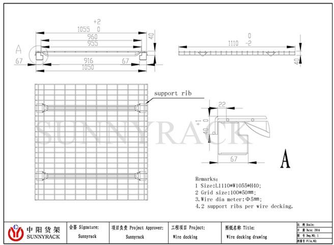 Цена по прейскуранту завода предварительно оцинкованная проволочная сетка палуба используется с паллетными стеллажами
