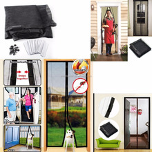 Magic Magnetic Mesh Hands-Free Screen net Door with18 powerful magnets TV shown anti bug Mosquito curtain Popular