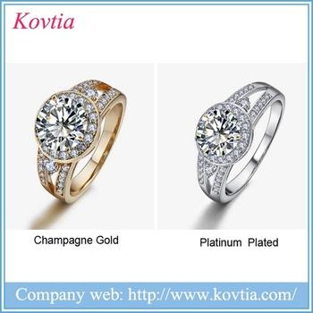 Latest Wedding Ring New Designs Ladies Finger Ring Single Stone Ring