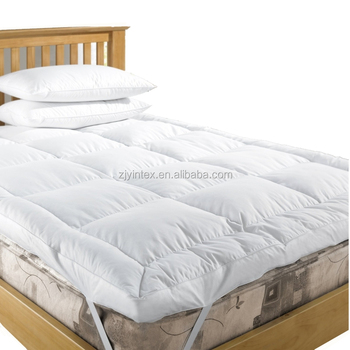 Wholesale Hotel Bed Down Feather Cotton Mattress Topper Queen Size