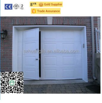 SZ Factory Direct Supply Insulated Automatic Sectional Folding Garage Door  With Infrared Sensor Pedestrian/pass