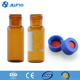 amber,12x32mm 9-425 Screw Thread Vials 1.8/2ml+9mm blue open top screw cap with nature PTFE/red rubber septa