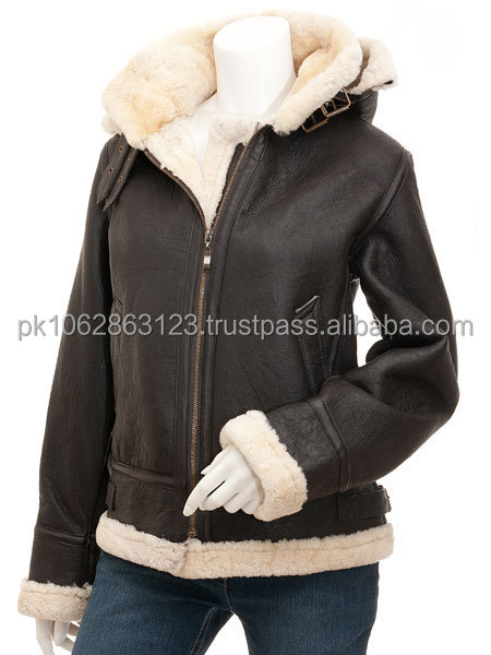 2014 New model fashion design hot selling women cheap leather jacket with skin fur
