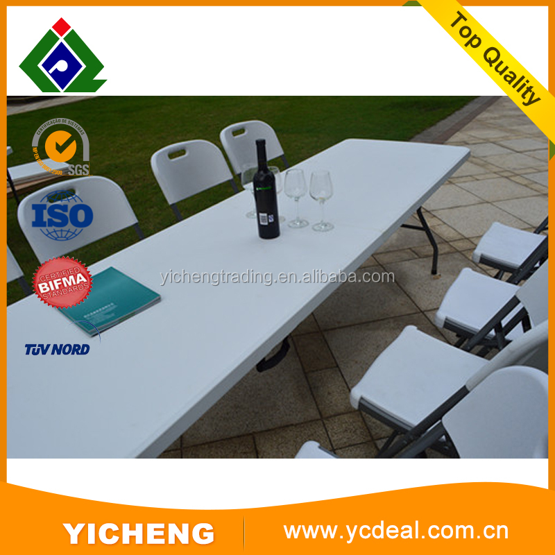 Brand New White Long Plastic Center Folding Table