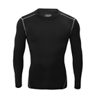 Custom sublimation men's spandex compression long sleeve t shirt
