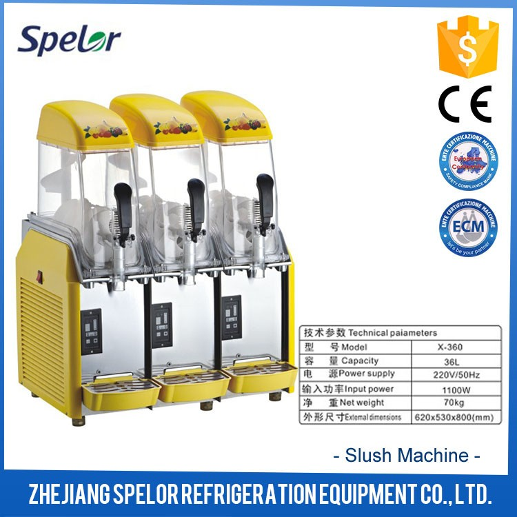 Granita Slush Puppy Machine Chinese Wholesale Slush Machine With Three Bowls