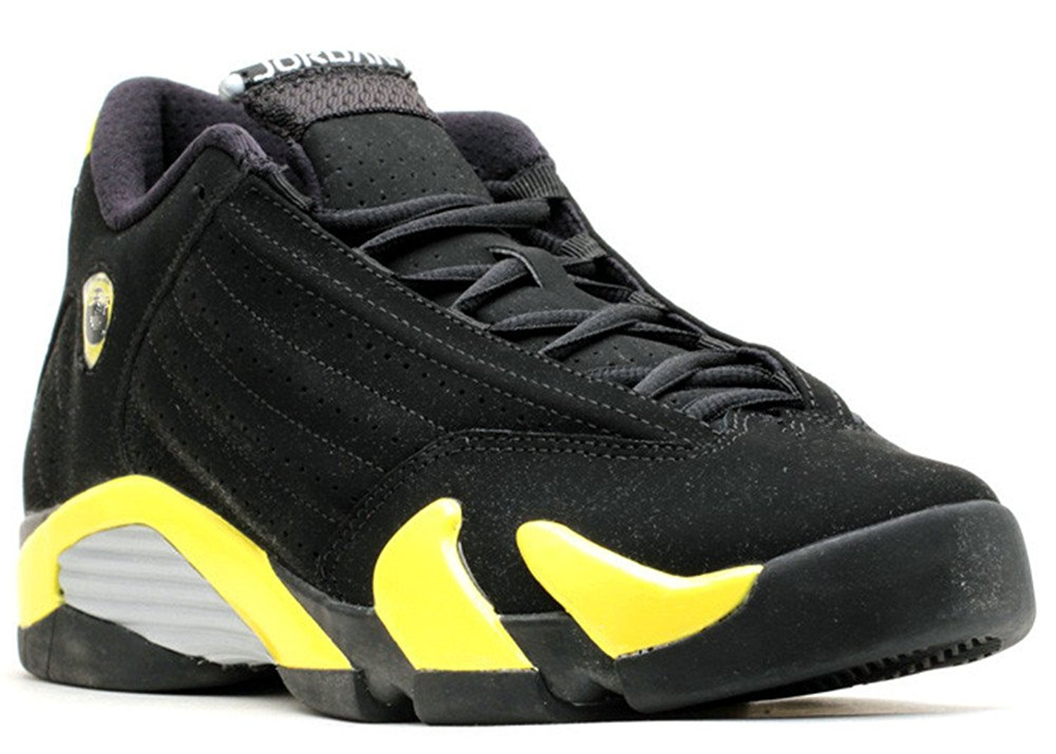 Ambar Zuiga Jurado Synthetic Basketball Shoe Air Jordan 14 Retro bg gs thunder Black vibrant yellow white 011963 2 True Flight Basketball Shoe