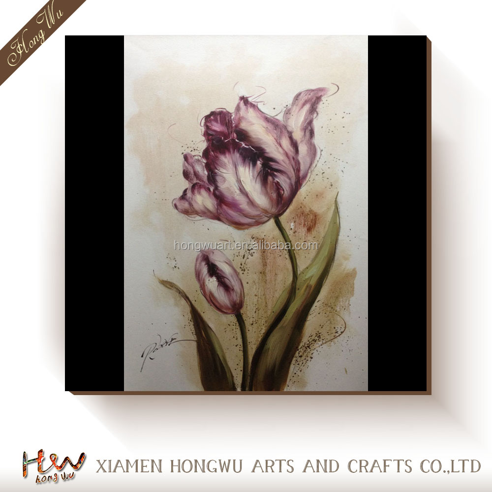 single flower painting on canvas