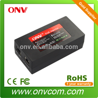 Single Port AC PoE Injector, 100 to 240V AC Voltage, Strong Lighting Protection
