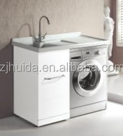 White Free Standing Linen Cabinet Washing Machine Laundry Wash ...