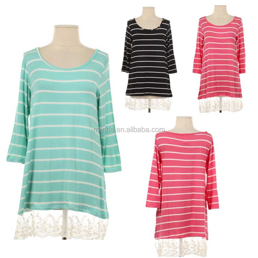 tall women clothing wholesale clothes online tunics spring summer american stripe shirt women hip hop clothing