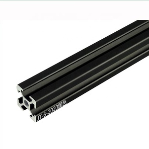 BoDanLi black or white industrial aluminum profile 2020 European standard aluminum alloy profile t-slot aluminum extrusion