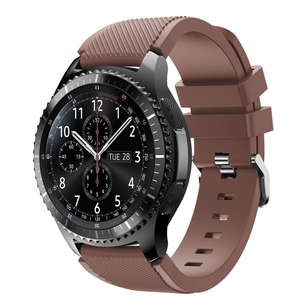 Compatible for Samsung Galaxy Watch 46mm/Gear S3 Watch Bands,22mm Soft Silicone Replacement Sport Strap Accessories Band for Samsung Gear S3 Frontier/S3 Classic/Galaxy Watch 46mm Smart Watch
