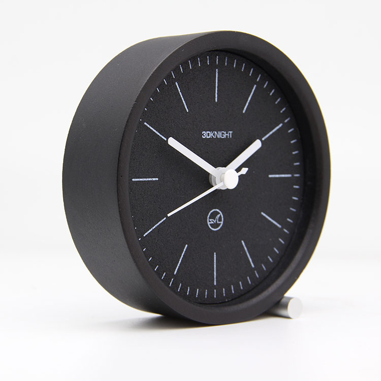 Christmas Black Small Table Clock For Decorations