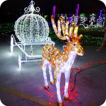 outdoor animated lighted christmas decorations led reindeer