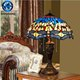 Hand made stained glass table lamp tiffany series with resin lamp base antique dragonfly pattern lamp