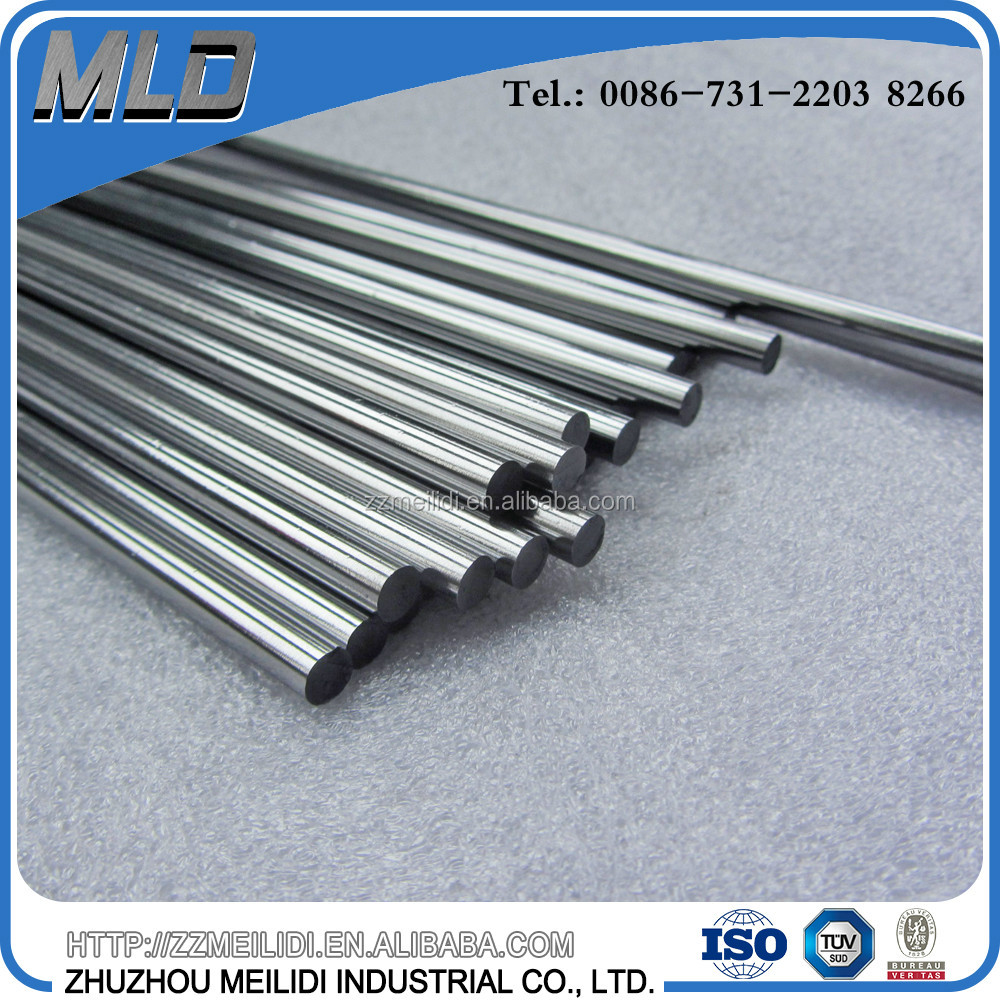 Precision ground solid carbide rod for end mills with ISO standard grinding tolerance