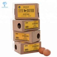 Customized low price best quality perforated 5-ply kraft paper eggs packaging boxes