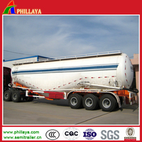 2017 New 3 axles 50 tons Bulk Cement Silo Bulk Cement Tank Truck Semi-Trailer for sale