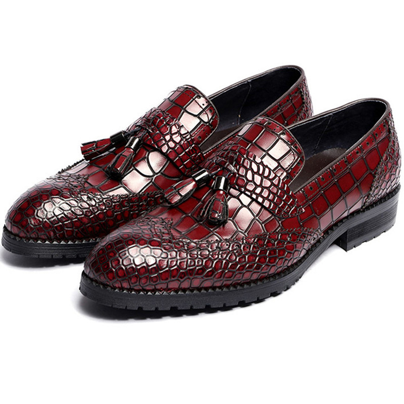 2015 summer italian luxury brand designer men oxford shoes soft genuine leather solid stone grained black red casual loafers 572