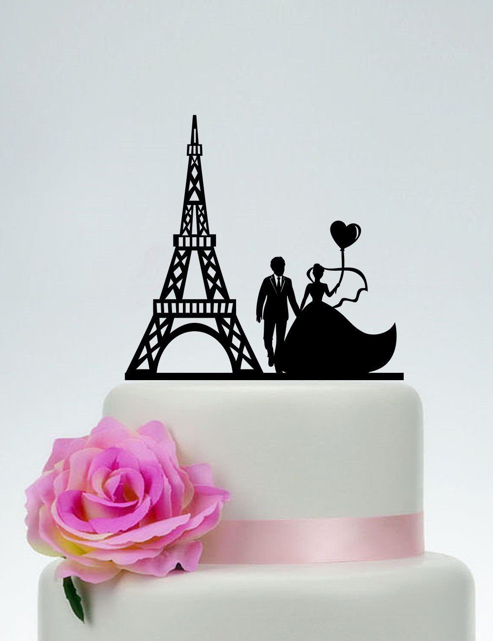 Wedding Cake Topper Eiffel Tower Groom And Bride Love Custom Paris Paris Silhouette Cake Topper For Wedding Anniversary Gifts Wedding Party Favors Cake Toppers