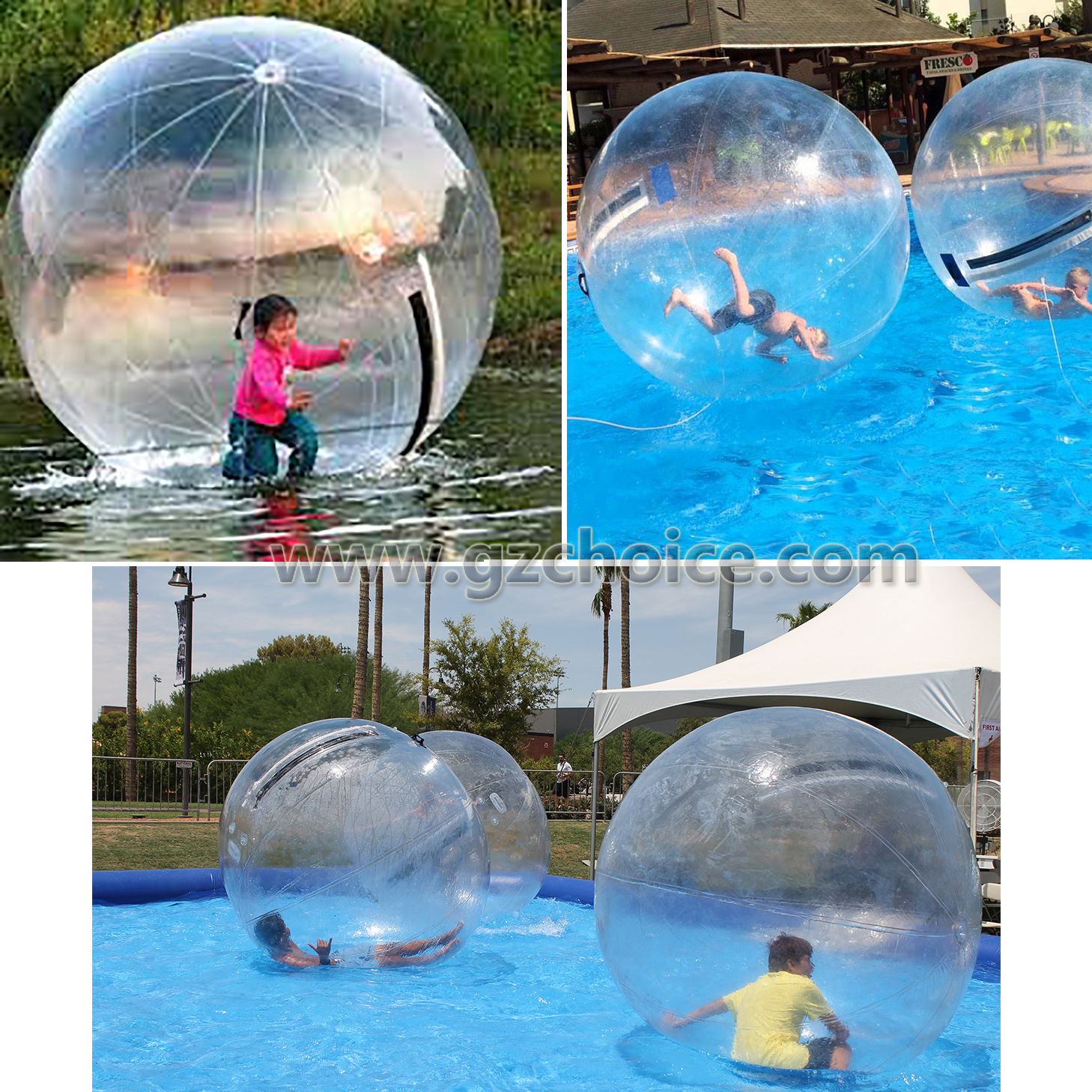 Inflatable Water Roller Rolling Ball For Adult Floating Water Inflatable Walking Ball