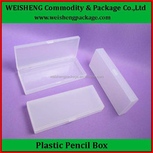 Simple design Plastic translucent pencil case/PP pencil boxes