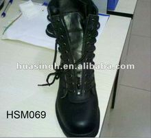 Brand Name Foreign Trade Front Zipper Fashion Police Boots 2012