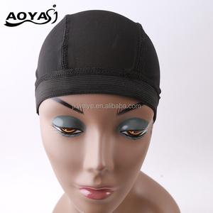 af870540235 AOYASI Stretchable Black Dome Cornrow Weaving Breathable Spandex Nylon Mesh  Net Hairnet Wig Cap