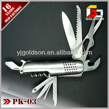 multifunction 420 stainless steel knife with 9 accessories