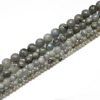 China Wholesale 1 Strand A+ Natural Stone Blue Light Labradorite Faceted Gemstone Loose Bead