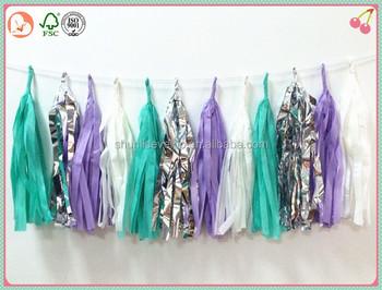 Handmade Item Wedding ,Party ,Birthday Decorations DIY Party Favor Tissue  Paper Tassel Garlands