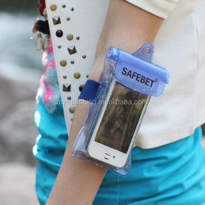 2016 factory price Wholesale Armband Waterproof Phone Case, PVC Waterproof Bag/Waterproof Pouch for Mobile Phone