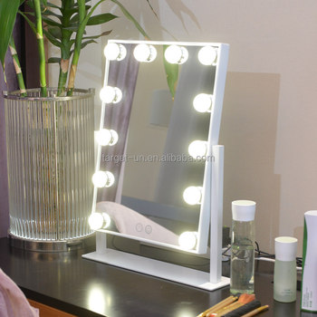 2017 New Model Led Light Make Up Mirrorled Bulbstable Mirror With