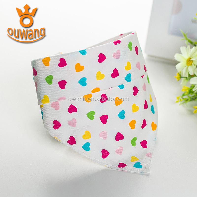 New Patterns Designs Waterproof High Quality Cotton Printed Bandana Drool Bibs Baby Bibs