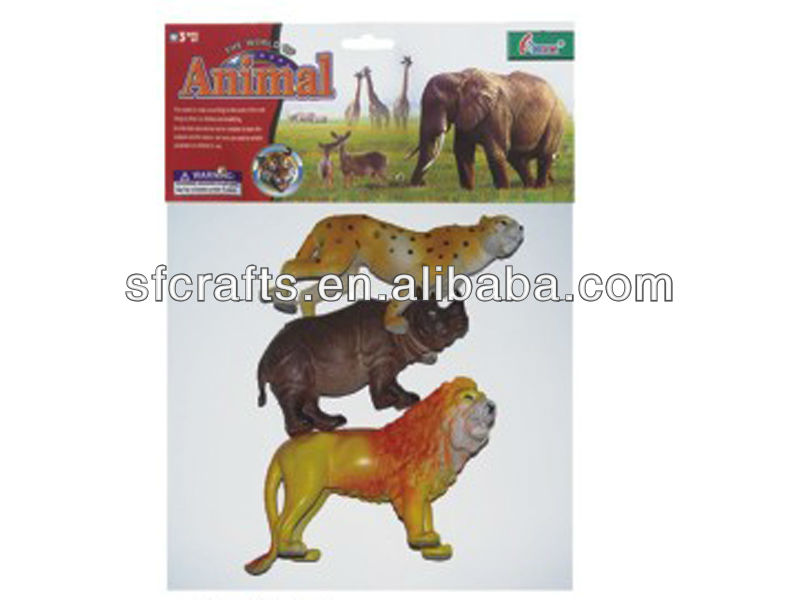 Hot sale jungle animals toy set